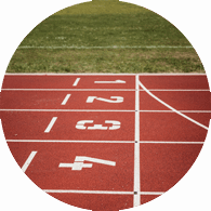 Running track showing goals