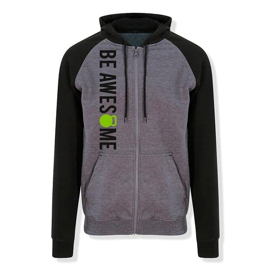 Baseball zip hoodie front