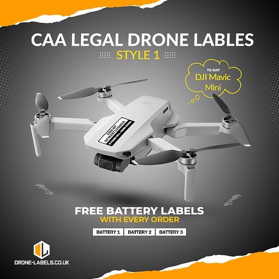 Drone Labels UK Mavic Mini